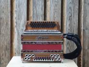 "Steirische Harmonika Alpen Classic ""Nuss-Rot"" B es as des"