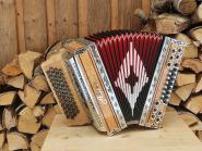 """Steirische Harmonika Alpen Classic """"Vogelaugenahorn"""" G C F B"""