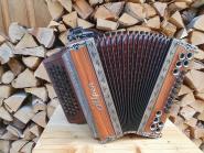"Steirische Harmonika Alpen Natur ""Palisander Antik"" G C F B"
