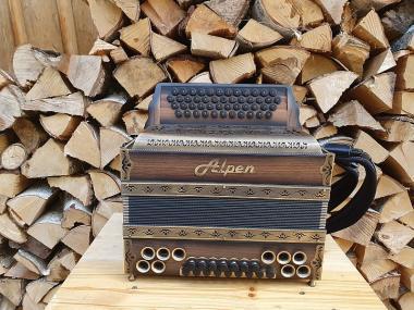 """Steirische Harmonika Alpen Natur """"Nuss Antik"""" G C F B"""