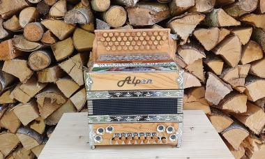 "Steirische Harmonika Alpen Compact ""Olive"" G C F B"