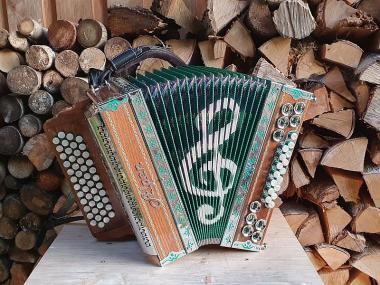 Steirische Harmonika Alpen Modell La Musica Grün G C F B