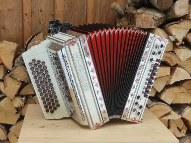 "Steirische Harmonika Alpen Classic ""Weiss"" G C F B"