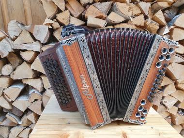 "Steirische Harmonika Alpen Natur ""Rosenholz"" G C F B"
