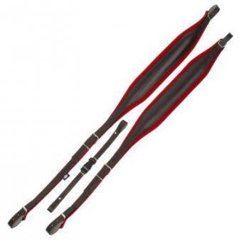 Alpenklang Akkordeonriemen Standard für Akkordeon 72/96 Bass - rot/braun