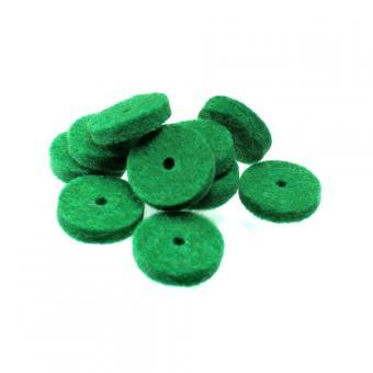 Filz für Harmonikaknöpfe, grün