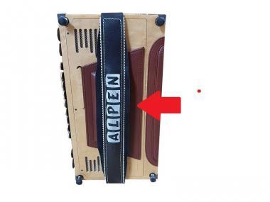 Bassbodenleder für Steirische Harmonika Variante 4, hellbraun
