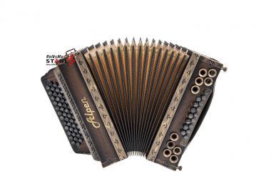 """Steirische Harmonika Alpen Natur """"Nuss Antik"""" B es as des"""
