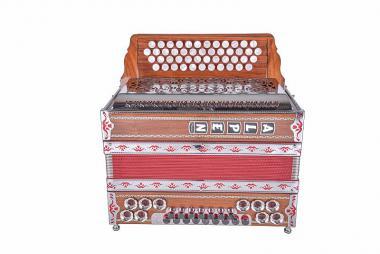 """Alpen Harmonika Modell """"Nuss-Rot"""" G C F B"""