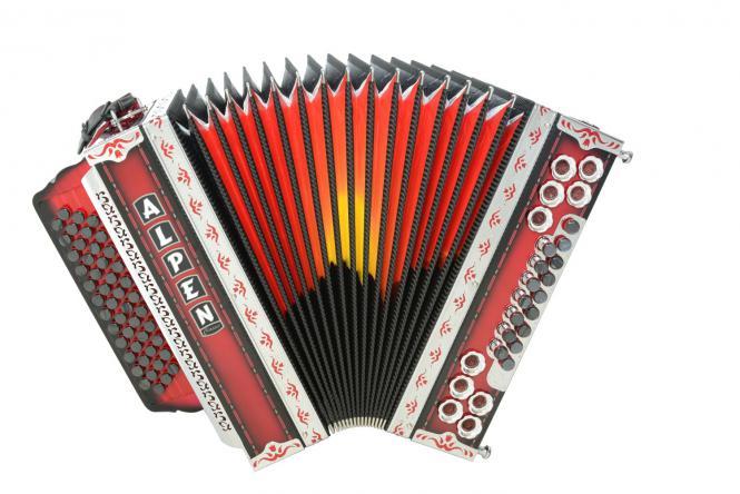 """Steirische Harmonika Alpen Classic """"Shadowred"""" B es as des"""