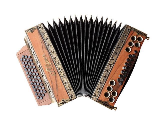 """Steirische Harmonika Alpen Natur """"Indischer Apfel"""" G C F B"""