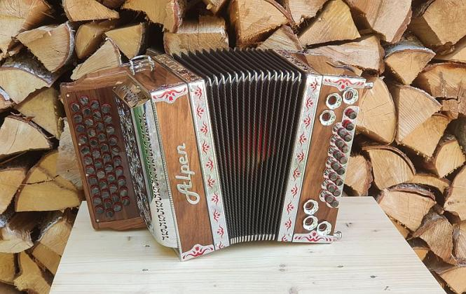 "Steirische Harmonika Alpen Compact ""Nuss"" G C F B"