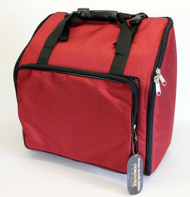 Steirische Harmonika Tasche Rucksack DELUXE-PRO ROT für 4-reihige Harmonikas