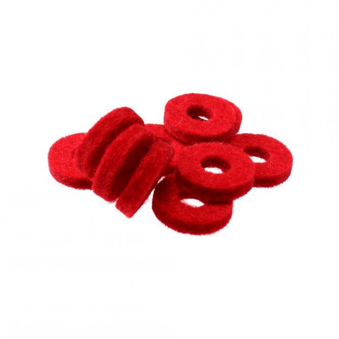 Filz für Bassknöpfe, rot
