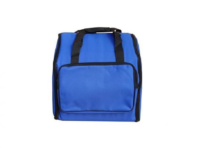 Akkordeon Tasche Rucksack DELUXE-PRO BLAU für 72 Bässe