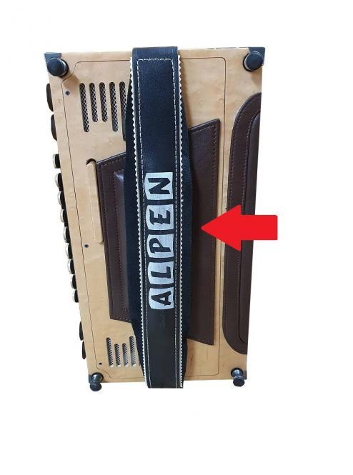 Bassbodenleder für Steirische Harmonika Variante 4, dunkelbraun
