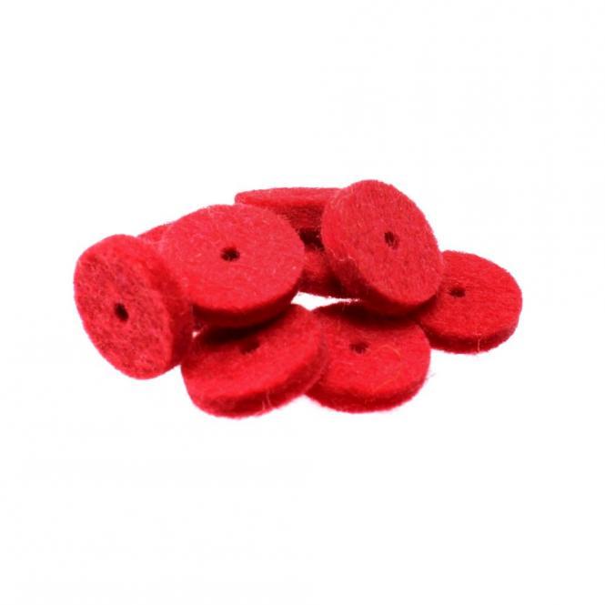 Filz für Harmonikaknöpfe, rot