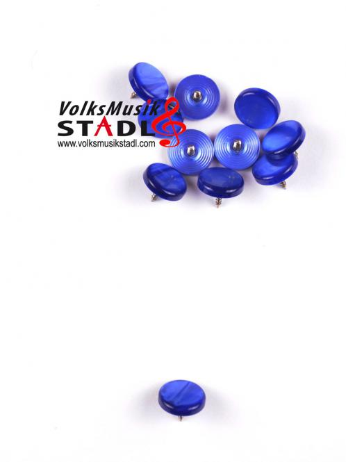 Harmonikaknöpfe Perlmutt , blau