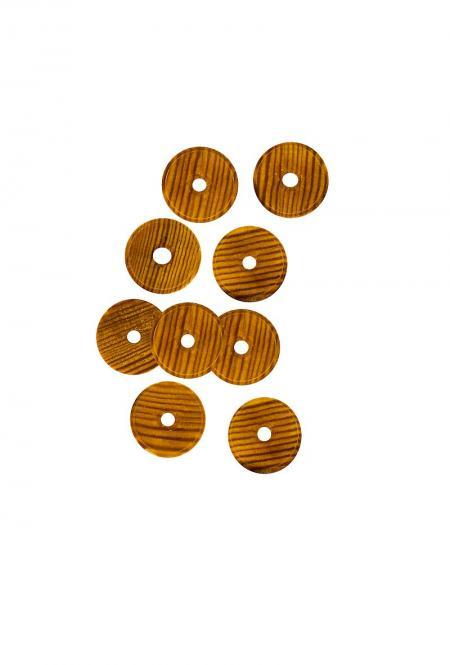 Harmonikaknöpfe Holz, für Diskant - und Bassseite Lärche