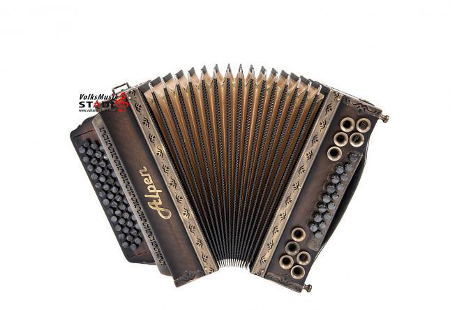 """Steirische Harmonika Alpen Natur """"Nuss Antik"""" A D G C"""