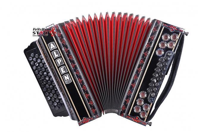 """Steirische Harmonika Alpen Classic """"Schwarz I"""" B es as des"""