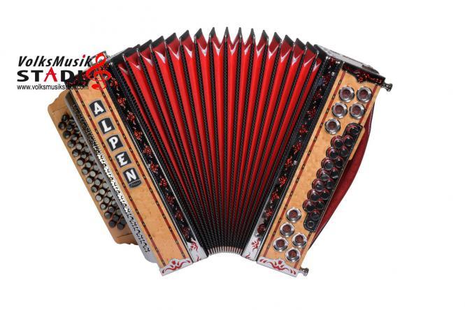 """Steirische Harmonika Alpen Classic """"Vogelaugenahorn"""" F b es as"""